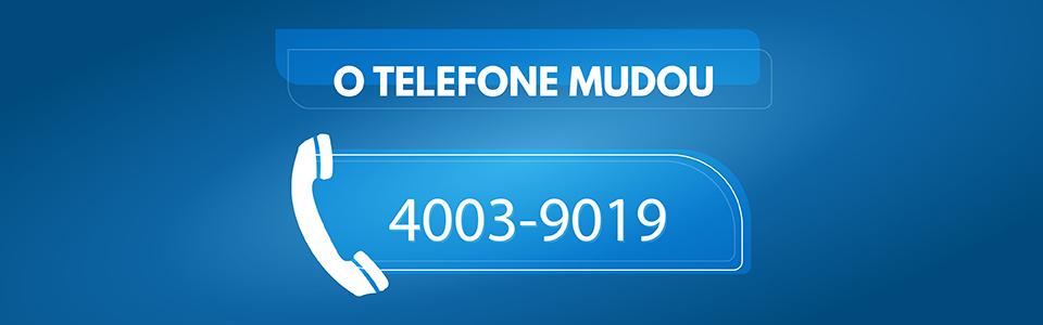 Novo número de telefone